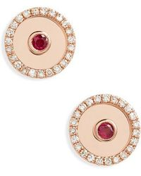 EF Collection - Diamond Bullseye Stud Earrings - Lyst