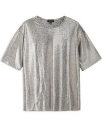TOPSHOP - Oversized Foil Tee - Lyst