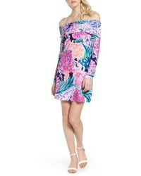 Lilly Pulitzer | Lilly Pulitzer Trisha Off The Shoulder Dress | Lyst