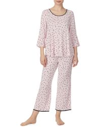Kate Spade - Short Sleeve Gathered Pajama Set - Lyst