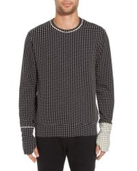 Twenty - Two-tone Crewneck Sweater - Lyst