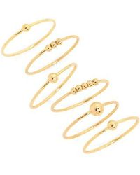 Gorjana - Newport Set Of 6 Mixed Stacking Rings - Lyst