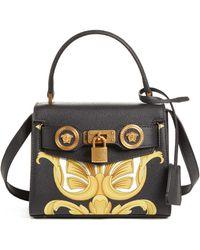 8e06abb7fb Roberto Cavalli Rc Icon Black Full Grain Leather Mini Bag in Black - Lyst