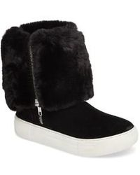 J/Slides | Apple Faux Shearling Boot | Lyst