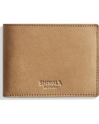 Shinola - Outrigger Bifold Leather Wallet - - Lyst