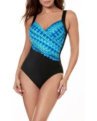 Miraclesuit - Miraclesuit Cabana Chic Sanibel One-piece Swimsuit - Lyst