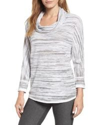 NIC+ZOE - Breeze Cowl Neck Sweater - Lyst