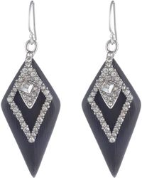 Alexis Bittar - Crystal Encrusted Spade Drop Earrings - Lyst