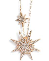 Serefina - Crystal Starburst Necklace - Lyst