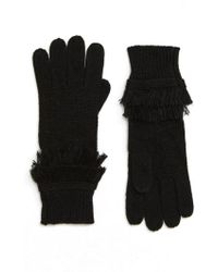 MICHAEL Michael Kors - Fringe Ribbed Gloves - Lyst