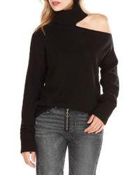 PAIGE - Raundi Cutout Shoulder Sweater - Lyst