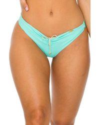 Luli Fama - Reversible Ruched Bikini Bottoms - Lyst