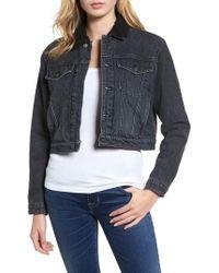 Hudson Jeans - Georgia Fleece Lined Denim Jacket - Lyst
