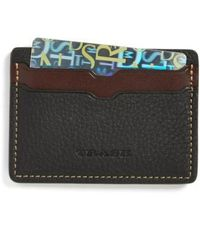 Trask - 'jackson' Norwegian Elk Leather Card Case - - Lyst