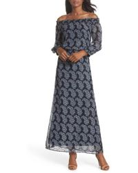 Taylor Dresses | Paisley Off The Shoulder Maxi Dress | Lyst