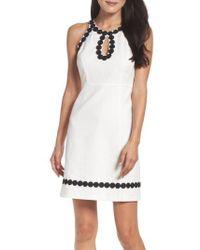 Taylor Dresses - Jacquard Shift Dress - Lyst