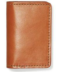 Filson - Leather Bifold Card Case - Lyst