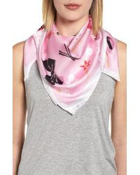 Kate Spade - All Dressed Up Square Silk Scarf - Lyst