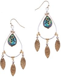 Nakamol - Abalone Teardrop Earrings - Lyst