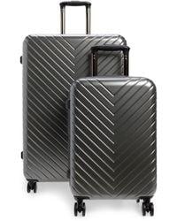 Nordstrom - Chevron 29-inch & 18-inch Spinner Luggage Set - Metallic - Lyst