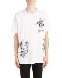 9e925234 Lyst - Balmain Gold Dragon and Phoenix Print T_shirt in Black for Men