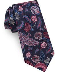 Ted Baker - Alligator Floral Silk Tie - Lyst