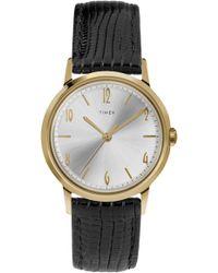 Timex - Timex Marlin Leather Strap Watch - Lyst