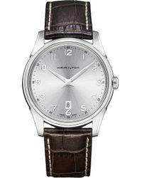 Hamilton - Jazzmaster Thinline Leather Strap Watch - Lyst