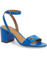 a8f4dfef5f9 Tory Burch - Kira Block Heel Sandal - Lyst