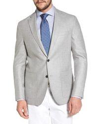 David Donahue - Arnold Classic Fit Wool & Silk Blazer - Lyst