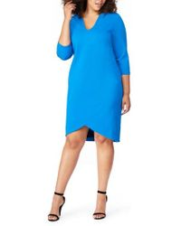REBEL WILSON X ANGELS - V-neck Fitted Dress - Lyst