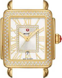 Michele - Deco Madison Mid Diamond Dial Watch Head - Lyst