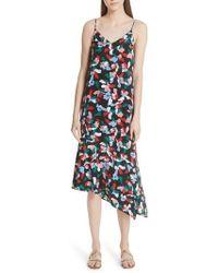 Equipment - Jada Asymmetrical Hem Silk Dress - Lyst