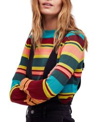 Free People - Show Off Your Stripes Sweater - Lyst