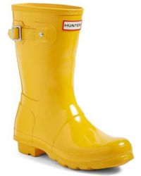 HUNTER - 'original Short' Gloss Rain Boot - Lyst