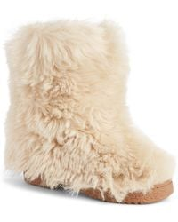 Saint Laurent - Genuine Shearling Boot - Lyst