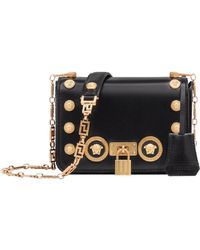 Versace - Medium Medusa Stud Icon Bag - Lyst