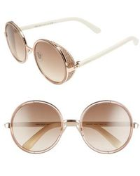 Jimmy Choo - Andiens 54mm Round Sunglasses - Lyst