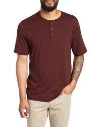 Vince - Layered Henley T-shirt - Lyst
