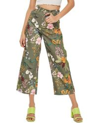 TOPSHOP - Tropical Floral Jeans - Lyst