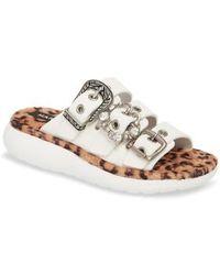 Marc Jacobs - Emerson Faux Fur Sport Sandal - Lyst