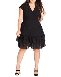 City Chic - Dreamy Fit & Flare Dress - Lyst