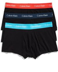 CALVIN KLEIN 205W39NYC - 3-pack Stretch Cotton Low Rise Trunks, Black - Lyst