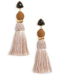 Lizzie Fortunato - Modern Craft Tassel Drop Earrings - Lyst