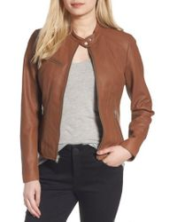 Marc New York | Felicity Leather Moto Jacket | Lyst