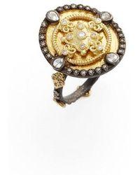 Armenta OId World Heraldry Oval Shield Ring Jk9rfEgArB