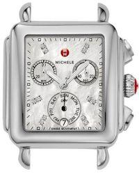 Michele - Deco Diamond Dial Watch Case - Lyst