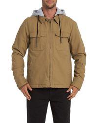 Billabong Barlow Hooded Twill Jacket - Multicolor