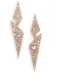 Alexis Bittar | Crystal Encrusted Dangling Drop Earrings | Lyst