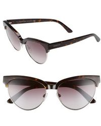 Balenciaga - 57mm Gradient Cat Eye Sunglasses - Dark Havana/ Gradient Burgundy - Lyst